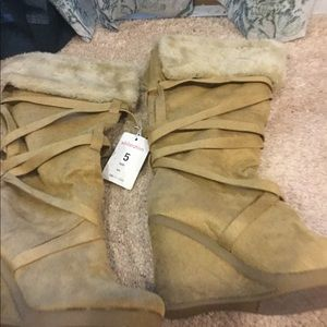 Suede Tan Boot